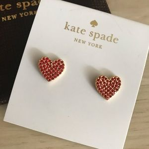 NWT Kate Spade heart earrings